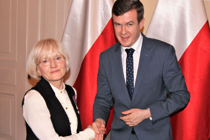 Krystyna Kloc uhonorowana Srebrnym Krzyżem Zasługi