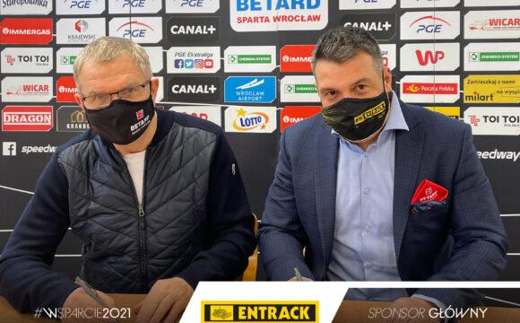 Entrack-Pol nadal wspiera WTS Sparta