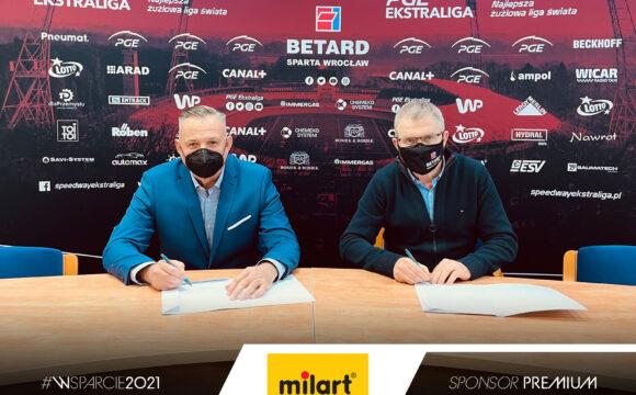 Milart nadal Sponsorem WTS Sparta
